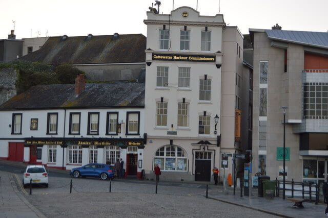 Meet the Harbour Master: An image of the Cattewater Harbour Commissioners office on the Barbican in Plymouth.