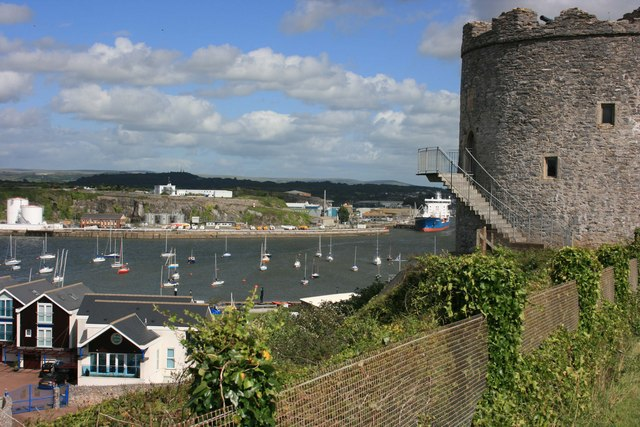 Meet the Harbour Master: An image of the Cattewater, taken from Mount Batten in Plymouth.