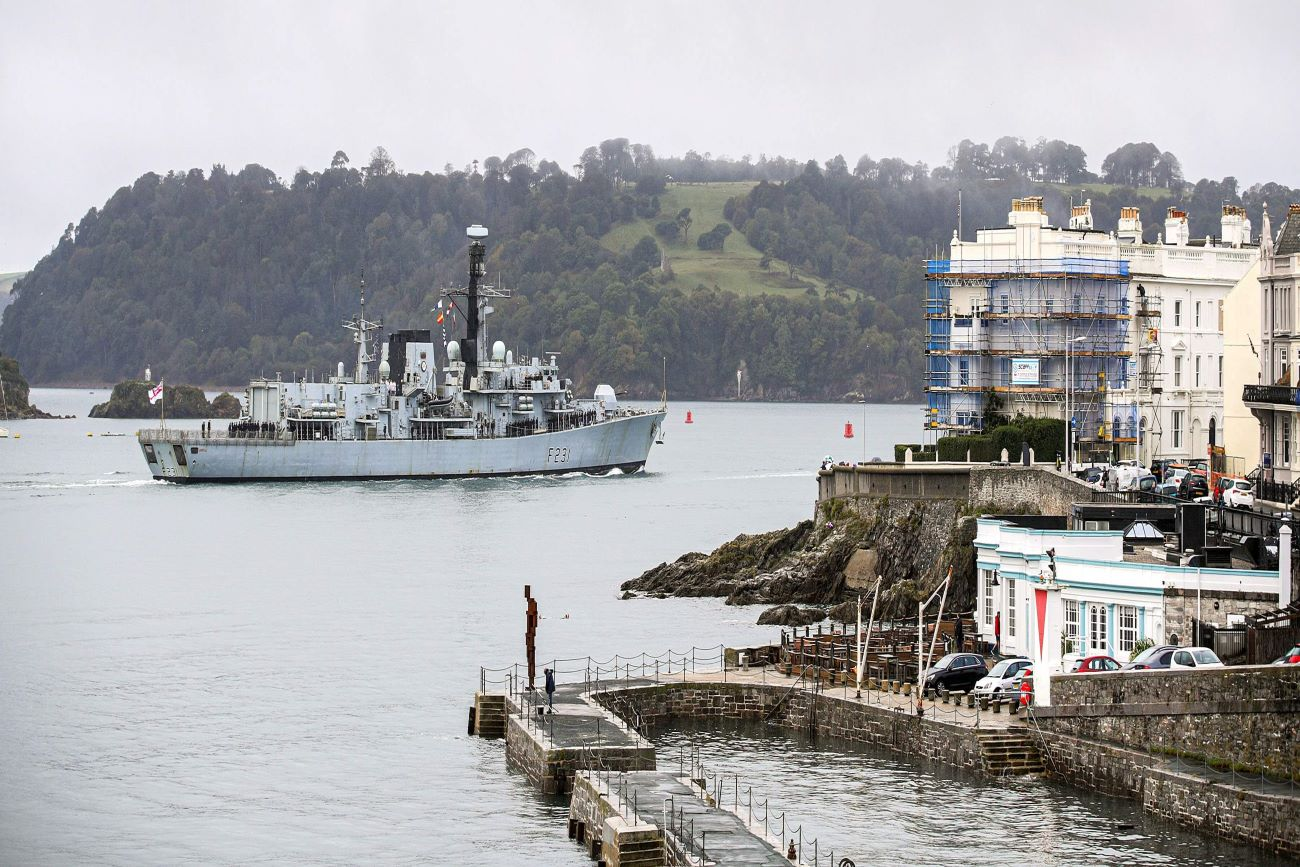 Meet the Queen's Harbour Master: Photograph of Plymouth Sound.